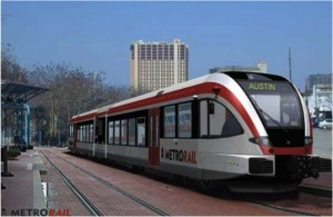 A MetroRail Train, Austin TX