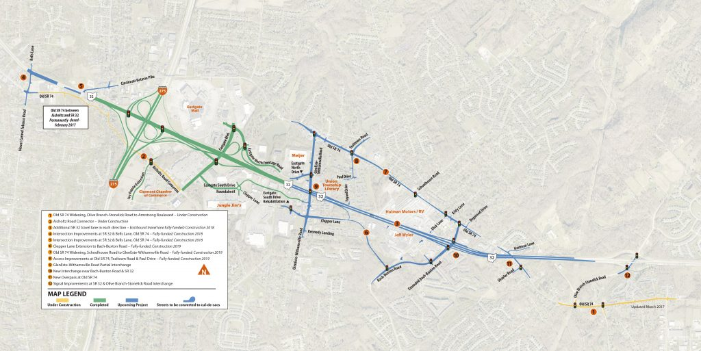 Eastern Corridor Segment IV and IVa projects. Click to enlarge.
