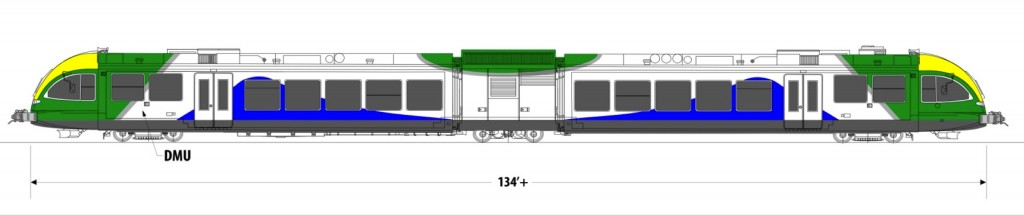 DMU trains typically consist of one to three units per train set.