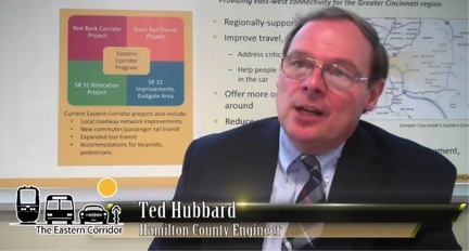Hamilton County Engineer Ted Hubbard explains that the Eastern Corridor Program also includes more than 180 smaller-scale transportation network improvements, a majority of which are already complete or under construction.